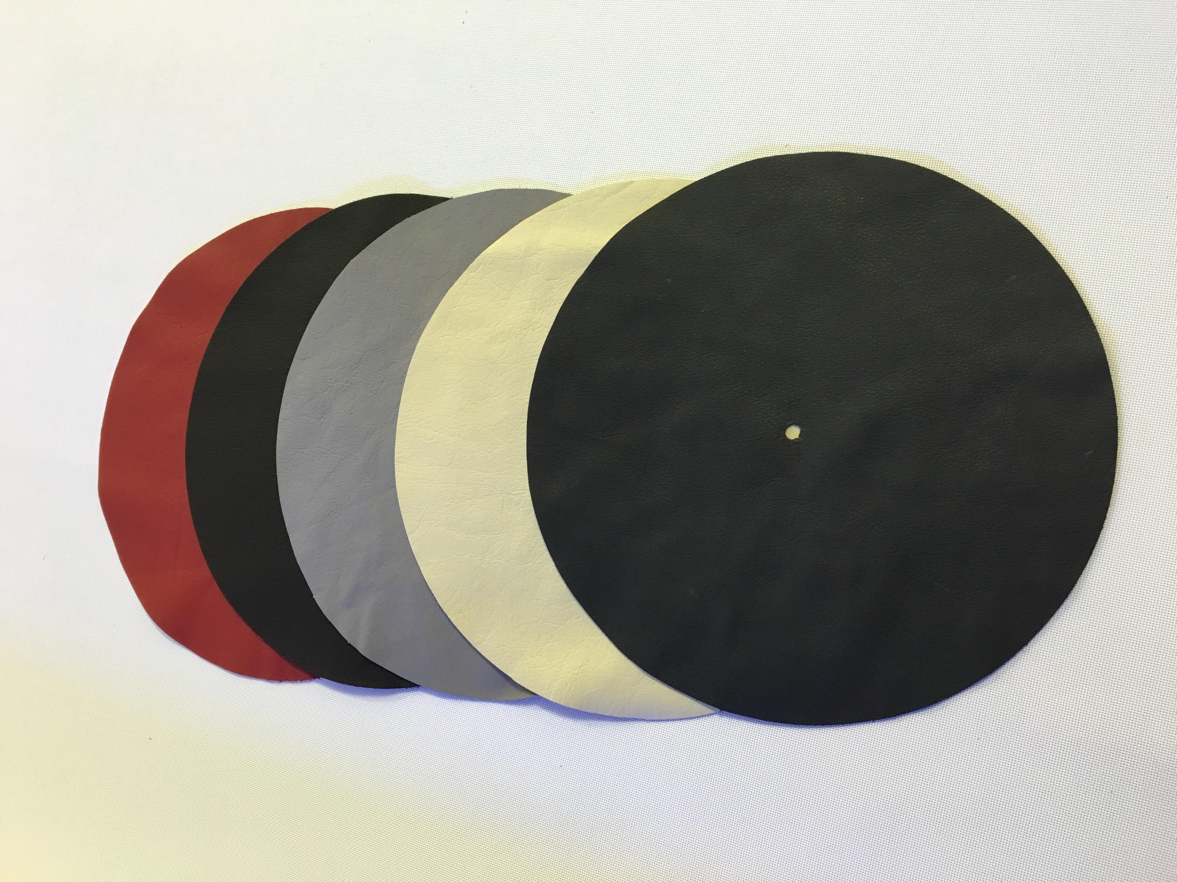 Plattentellerauflage Echtleder